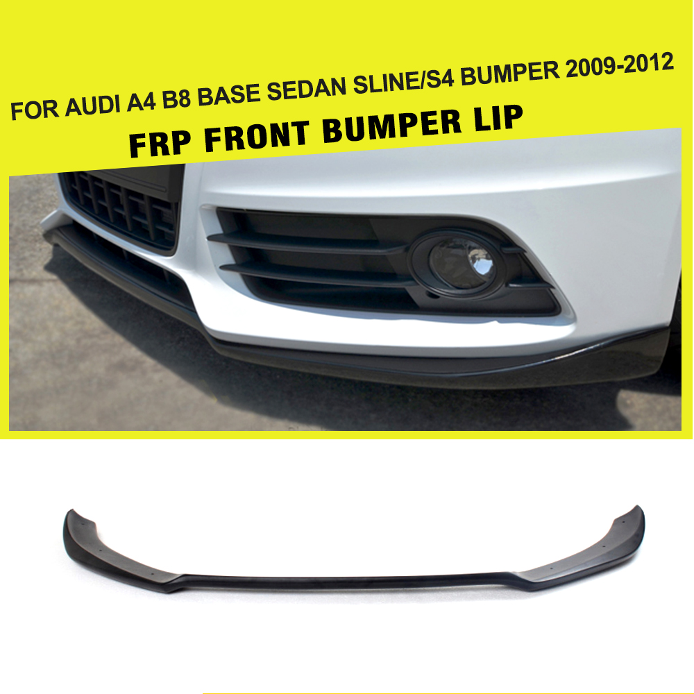 Frp black primer racing front lip spoiler for audi s4 b8 s line sedan 4
