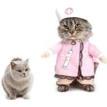 Newest Pet Cat Cute Costume Clothes For Nurse Suit Outfit Dress Apparel Cotton