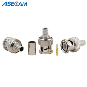 цена на Freeshipping BNC Male Crimp plug for RG59 Coaxial Cable RG59 BNC Connector BNC male 3-piece crimp connector plugs