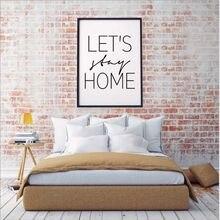 Haochu let's stay home постер для гостиной домашний Декор