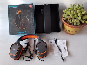 USED G231 logitech Stereo Gaming Headset NOISE-CANCELING free shipping