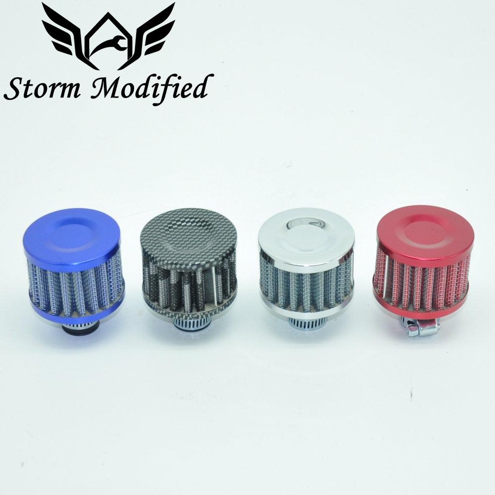 SuTonga 12mm Mini Car Air Filter Car Motor Cold Air Intake Filter Turbo Vent Crankcase Breather Motorcycle Styling Accessaries