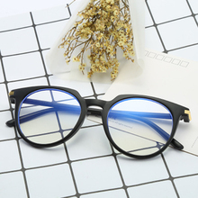 Vintage Anti Blue ray Glasses Frame Women Reading Goggle Light Proof Computer Transparent Optical Eyewear