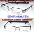 Оптический заказ Близорукость очки Для Чтения Высокое качество titanium alloy супер свет Тенденция рама + 1.0 + 1.5 + 2.0 + 6.0-1.0-11