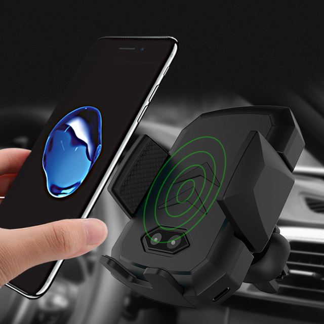 Automatic Induction QI Wireless Charger for iPhone Samsung Huawei Fast Wirless Charging Charger Car Phone Holder Outlet Air Vent