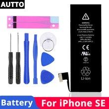 100% новый 1624 мАч мобильный телефон аккумулятор для iphone 5se уровень ААА встроенный литиевый аккумулятор SE аккумулятор бесплатный инструмент для удаления Бесплатная доставка