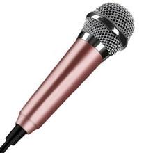 Portable 3.5mm Stereo Studio Mic KTV Karaoke Mini Handheld Microphone For Cell Phone Laptop PC Desktop 5.5cm*1.8cm Small Size#7