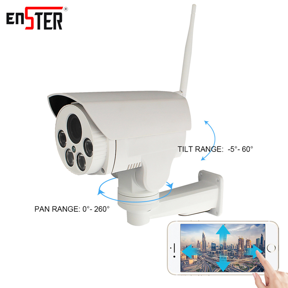 Enster PTZ Bullet ip camera Full HD 960P 1080P wireless IP Camera wi-fi Auto Focus 2MP onvif ip security camera outdoor 1080p wistino 1080p 960p wifi bullet ip camera yoosee outdoor street waterproof cctv wireless network surverillance support onvif