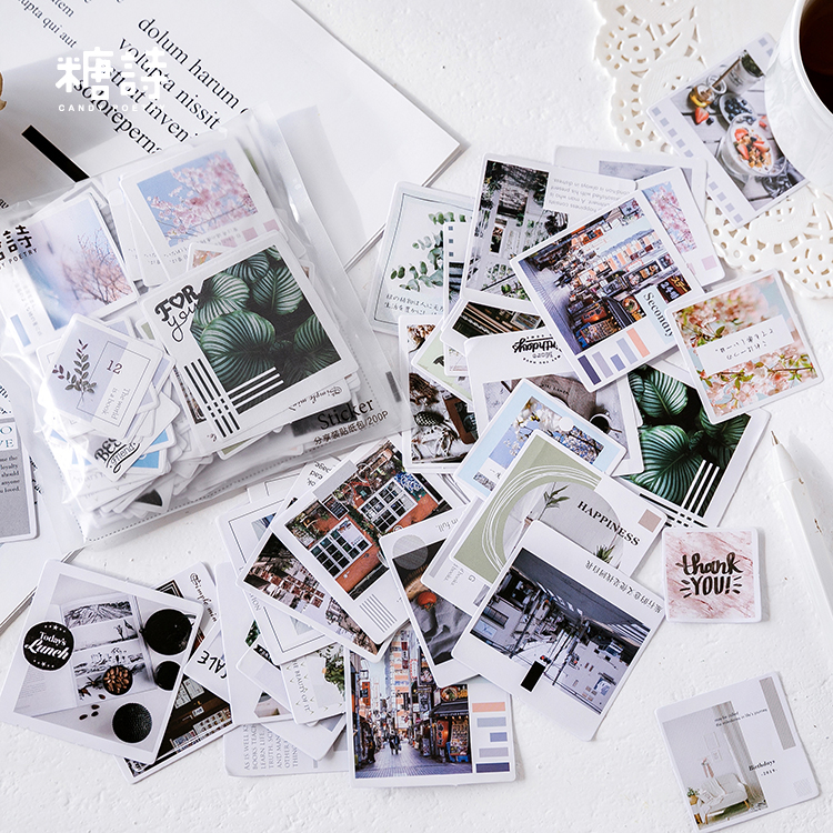 200pcs/lot Cute Washi Sticker Set Yummy Food Decorative Stationery Stickers Diy Label For Journaling Planner Scrapbooking Album