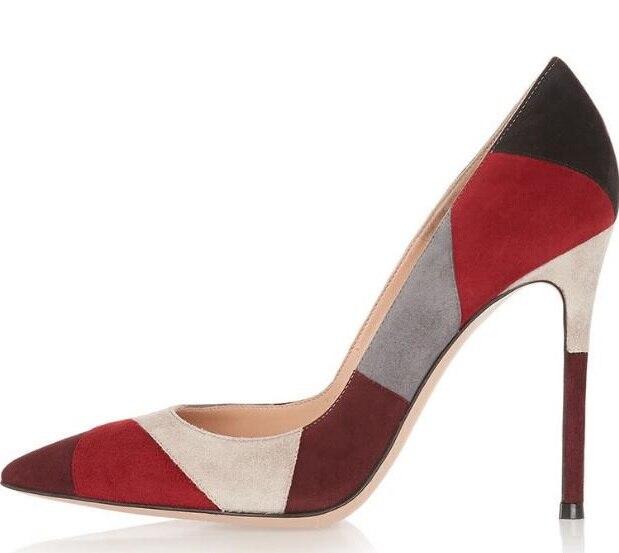 f1ab07cf373 Mujeres Picture De Zapatos Rejilla La Bombas Calidad Altos As Tacones Envío  Gota Cuero Formal as ...