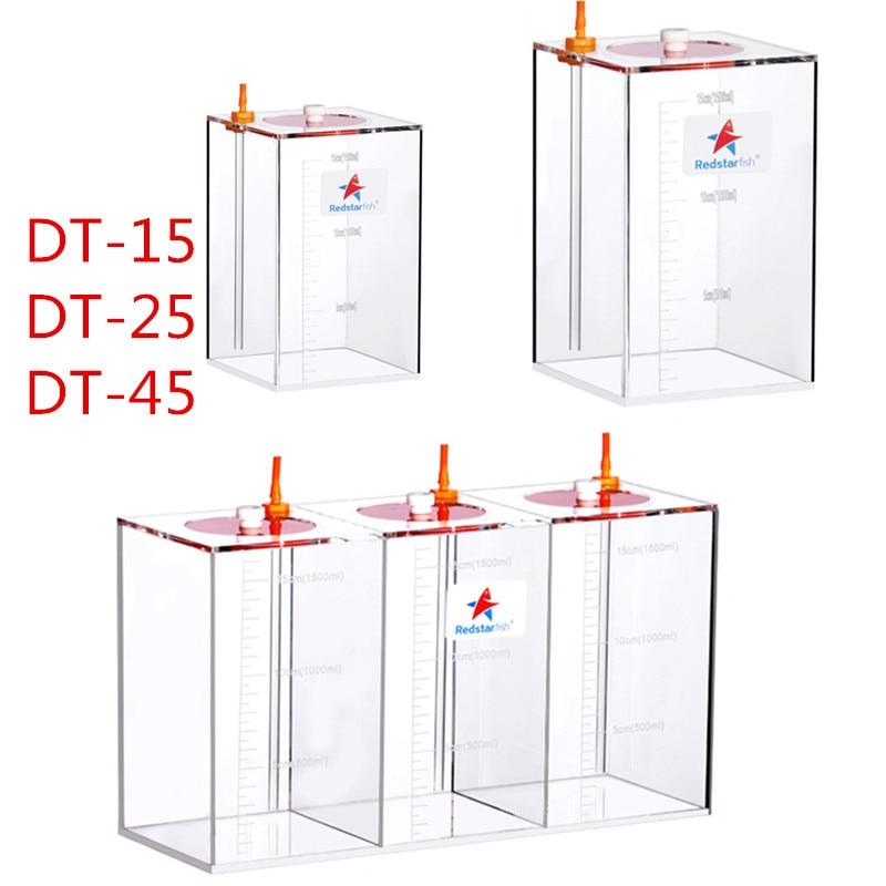 1.5L 2.5L 4.5L 5L 10L Acrylic Aquarium  Red star Brand Liquid Container With Scale For Dosing Pump1.5L 2.5L 4.5L 5L 10L Acrylic Aquarium  Red star Brand Liquid Container With Scale For Dosing Pump