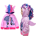 Cartoon My Pony Baby Girls Tassels Hooded Cosplay Princess Coat + wings jackets robe fille enfant Clothes For 2 4 6 8 10 12 Year