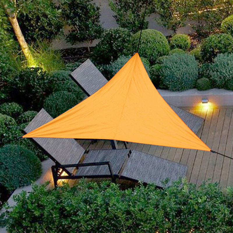 Realistic Outdoor Trilateral Shade Sail Cloth Shadecloth Swimming Pool Waterproof Sun Prevent Uv Canopy Home Garden Awning Cover Cap Net Garden Supplies