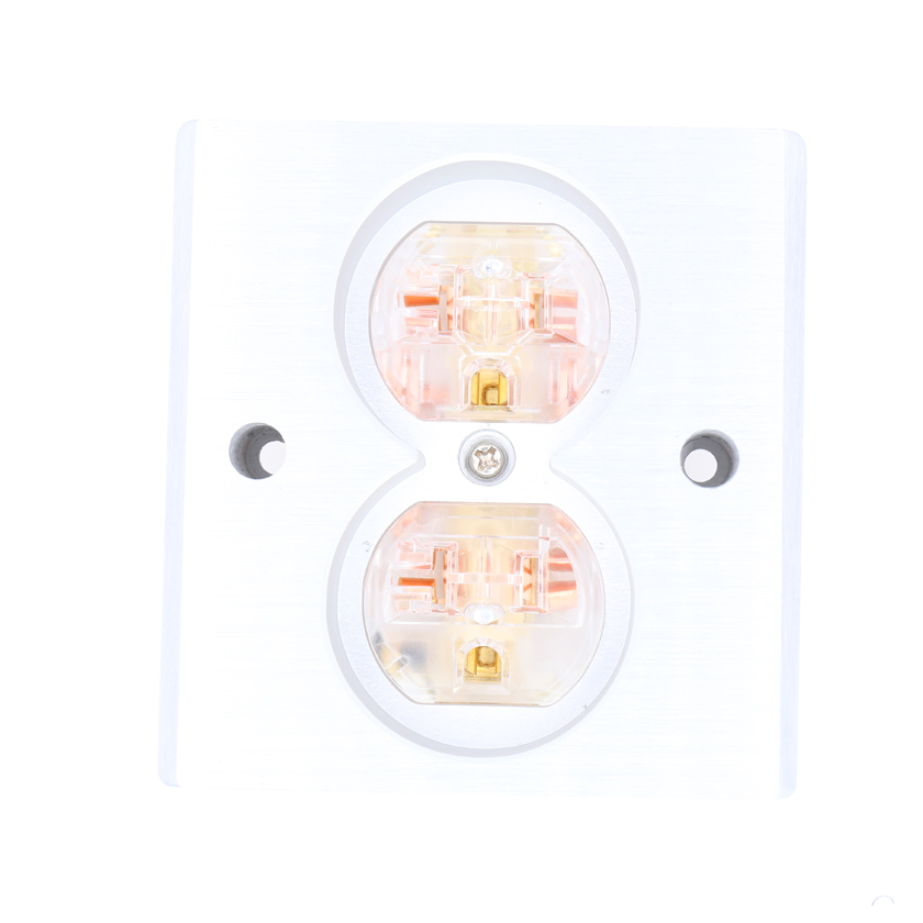 Free shipping 2pcs Transparent High Quality Power US AC Power Receptacle Wall Outlet Copper Socket free shipping 2pcs black high quality power us ac power receptacle wall outlet copper socket