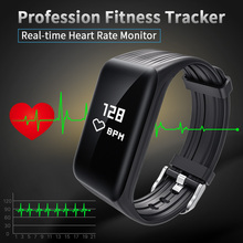 New font b Fitness b font Tracker K1 Smart Bracelet Real time Heart Rate Monitor down