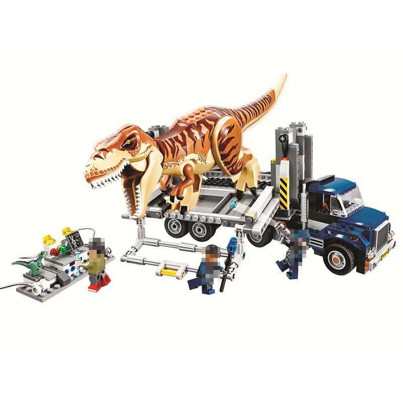 ไดโนเสาร์ใหม่ของเล่น T - Rex อาคารที่เข้ากันได้ของเล่น Jurassic World 2 ชุดบล็อกอาคารสัตว์อิฐตัวเลขสำหรับเด็กของขวัญ