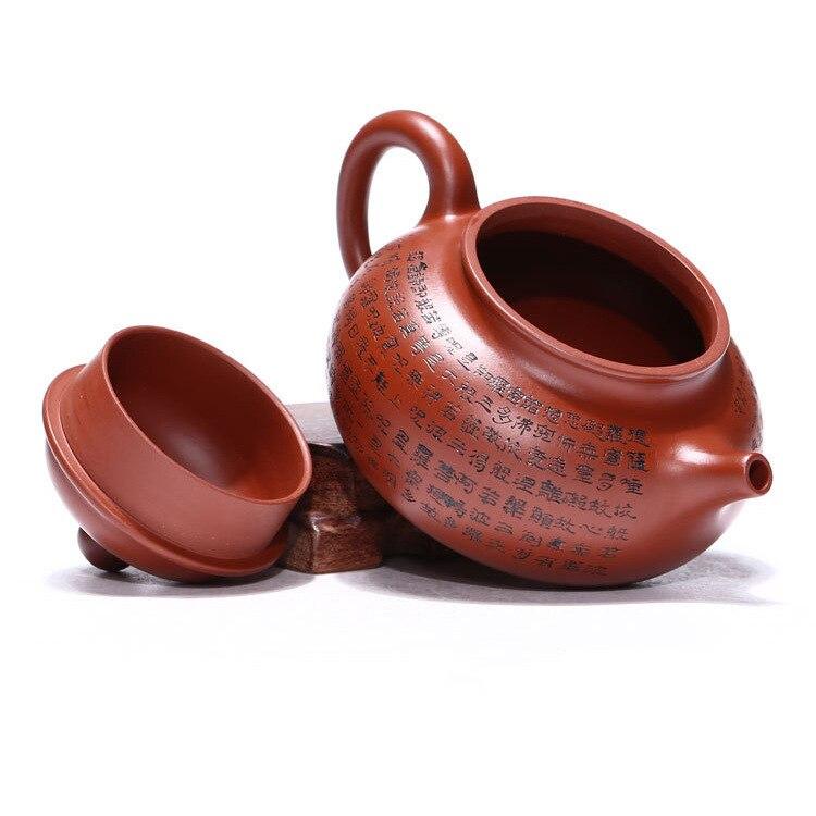 Venta al por mayor yixing recomendado puro manual desvestido mineral dhongpao corazón sutra día olla de kung fu Té juego de regalo - 4