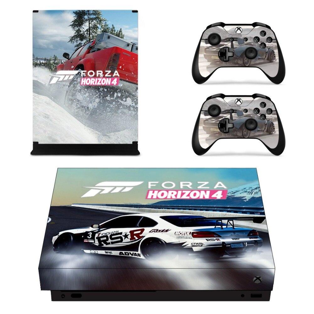 Remote Console Controller Della Pelle Set In Vinile Decalcomanie Della Pelle Sticker Cover per Xbox One X Console-Forza Horizon 4