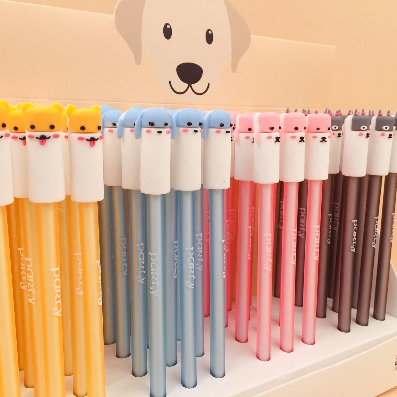 48pcs Creative Stationery Student Pen Silicone Dog Gel Pen 0.5mm Full Needle Black Ink Pen School Supplies Office Supplies 0.5mm48pcs Creative Stationery Student Pen Silicone Dog Gel Pen 0.5mm Full Needle Black Ink Pen School Supplies Office Supplies 0.5mm