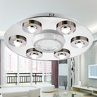 Stainless Steel LED Modern Ceiling Light Lamp With 6 Lights For Living Room Lustre Decorative Home