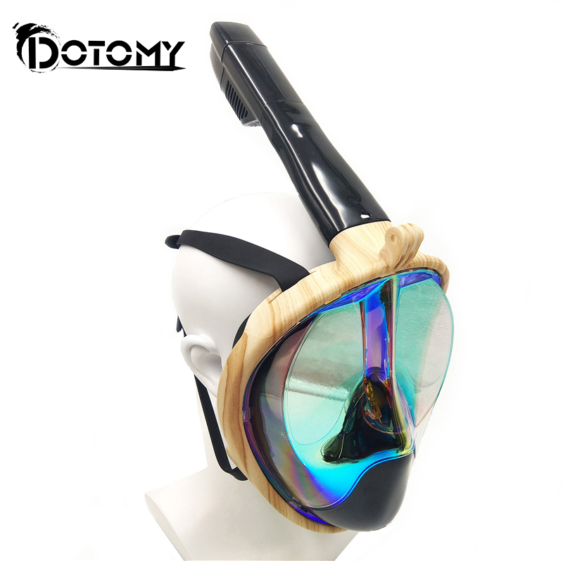 Full Face Snorkeling Masks Panoramic View Anti-fog Anti-Leak Swimming Snorkel Scuba Underwater Diving Mask GoPro Compatible super quality full face diving mask liquid silicone spearfishing mask snorkeling equipment scuba masks m246