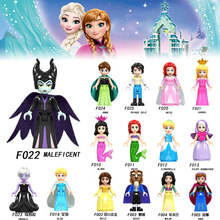 Cinderella Elsa Belle Alana Fairy Godmother Maleficen Compatible Legoings princess Building Blocks Figures Toys Girls Gift YF30(China)