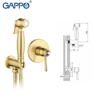 GAPPO TOP Crystal Muslim Gold Bidet Shower Toilet Sprayer Bathroom Bidet Faucet Restroom Mixer Tap Washer