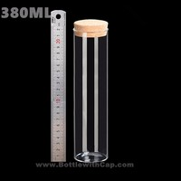 10 380ML Transparent Test Tube Of High Borosilicate Glass Storage Jar Tea Tea Fruit Storage Tank