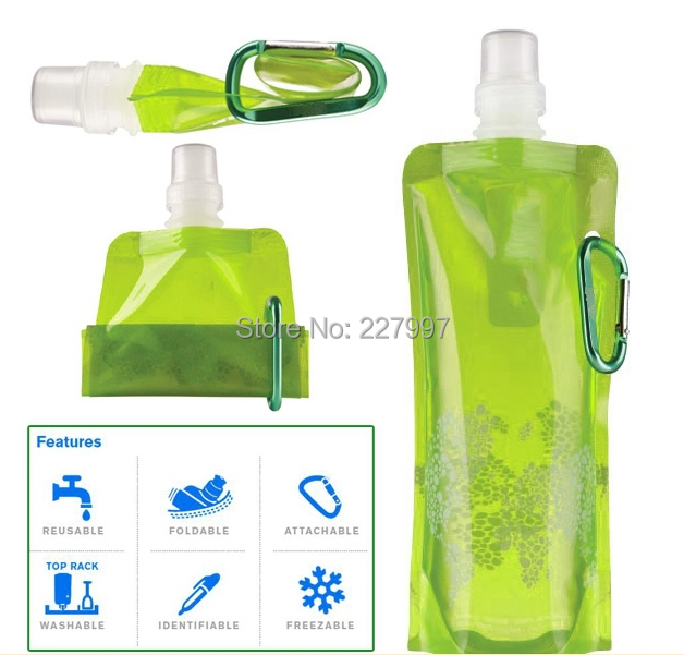 Foldable Portable Water Bag Drinking Bag with Straw for Outdoor Sports Cycling