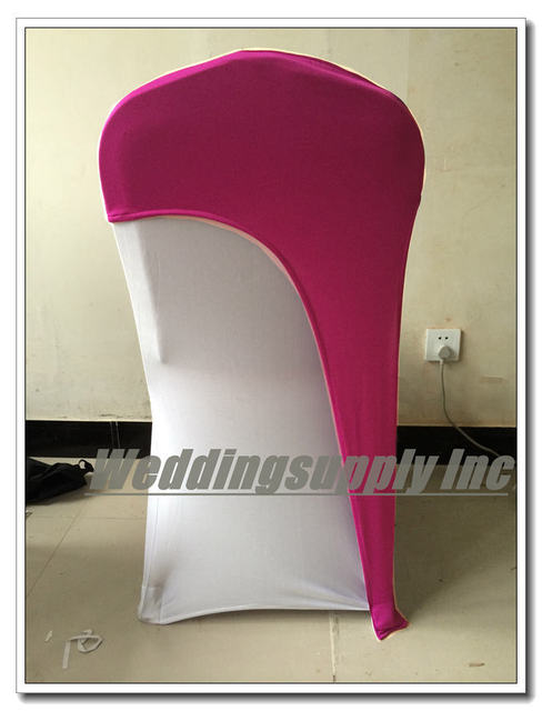 Hot Pink Spandex Chair Covers Academy Folding Chairs 100 Lycra Cover Cap Wedding Sash Band