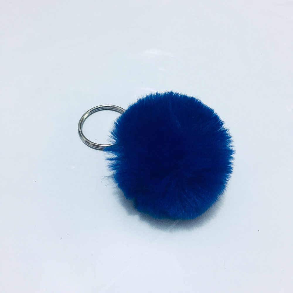Cores New 4 17 cm Mini Adorável Fluffy Coelho Chaveiro Bola de Pêlo Pompom de Pele de Coelho Artificial Chaveiro Mulheres Carro saco do Anel Chave
