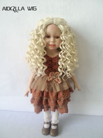 25 28cm Head circle Long Wave Doll Wig for Russian Handmade Doll, Hair for homemade Dolls for 18 inch American doll
