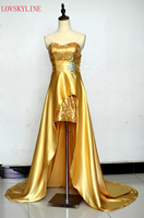 2015 Hot Sell New Collection Sweetheart Sequined Beads Fashion Satin Long Formal Gown Evening Dresses