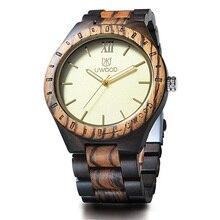 2019 New Fashion Men's Wooden Watch UWOOD Handmade Vintage Quartz Wristwatches N