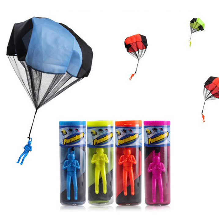 Kids Hand Throwing Parachute Toy For Children's Educational Parachute With Figure Soldier Child Outdoor Fun & Sports Play Game