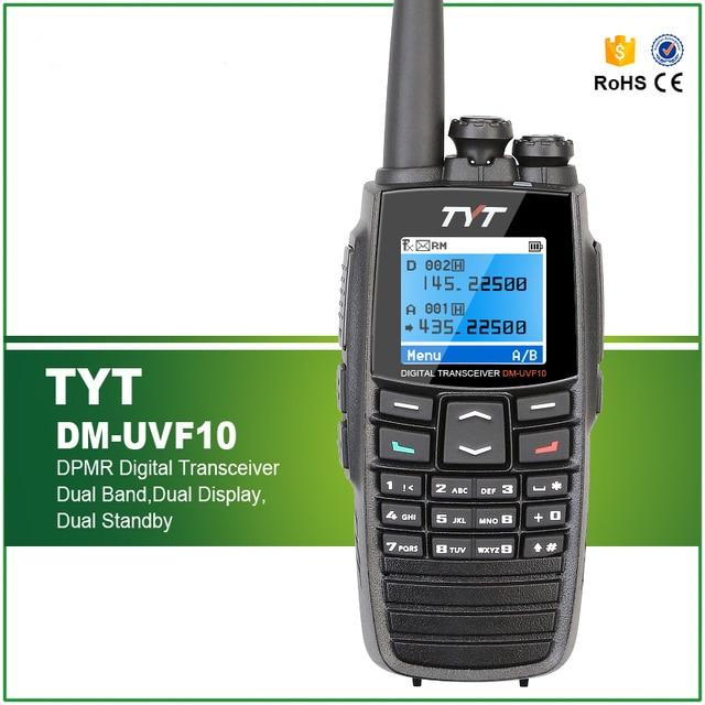 Free Shipping TYT DM-UVF10 UHF+VHF 400-470/136-174Mhz DTMF VOX 1750Hz DPMR Digital Transceiver UVF10