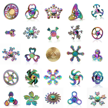 Rainbow Metal Fidget Spinner Zinc Alloy Colorful Hand Spinner For Autism ADHD Adult Stress Relieve EDC Toy Spiner