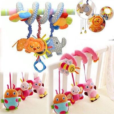 Kid Crib Bed Stroller Music Plush Animals Toy baby Rattles