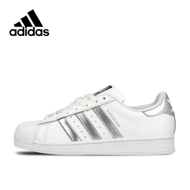 Original Authentic Adidas SUPERSTAR Breathable Women's and Men's Skateboarding Unisex Shoes Sport Outdoor Sneakers B27136/G17068