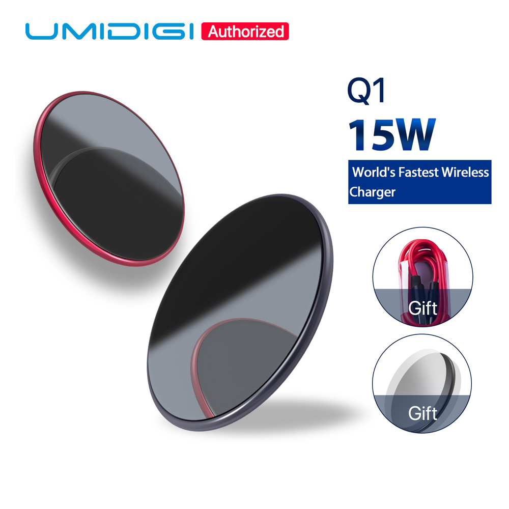 UMIDIGI Q1 Wireless fast Charger for Z2 Pro Wireless Charging Pad Samsung Galaxy S9 S8 S7 Wireless Charging iPhone 8 X 8 Plus