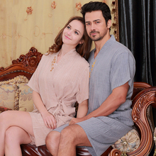 Couple Fashion Sleepwear Nightwear Summer Cotton Home Clothing sets For Couples