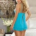 Newest Womens Ladies Sexy Lingerie Lace Dress Underwear Babydoll Sleepwear+G-string