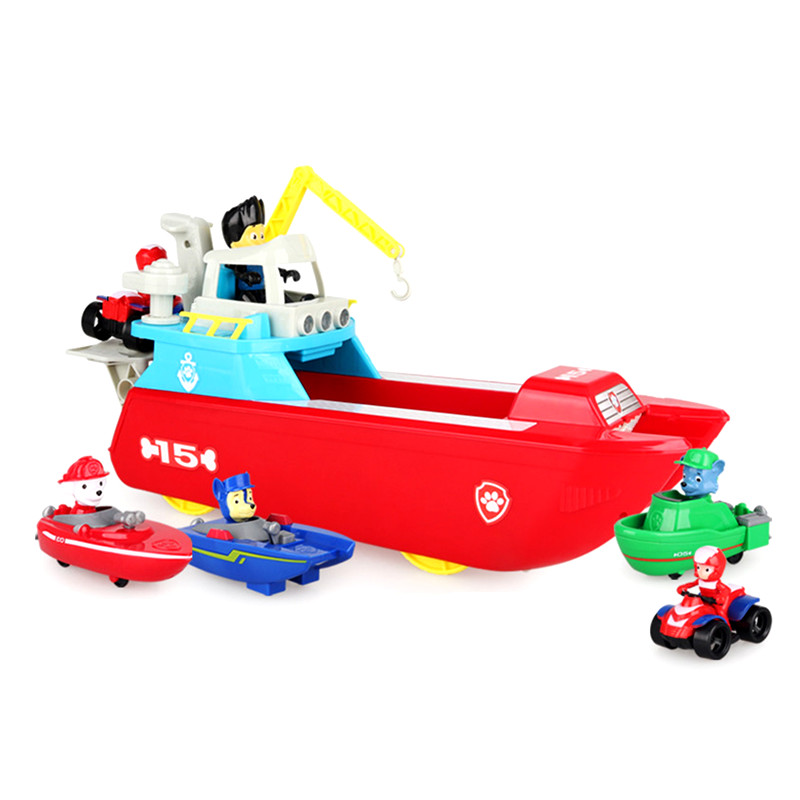 New Paw Patrol Dog Yacht Toys Marine Rescue Boat Action Figure Patrulla Canina Model Toys for ChildrenNew Paw Patrol Dog Yacht Toys Marine Rescue Boat Action Figure Patrulla Canina Model Toys for Children
