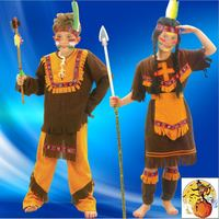 2015 New Free Shipping Halloween Costume Party Dress Costume Costumes Little Indian Boy Dressed Clothing