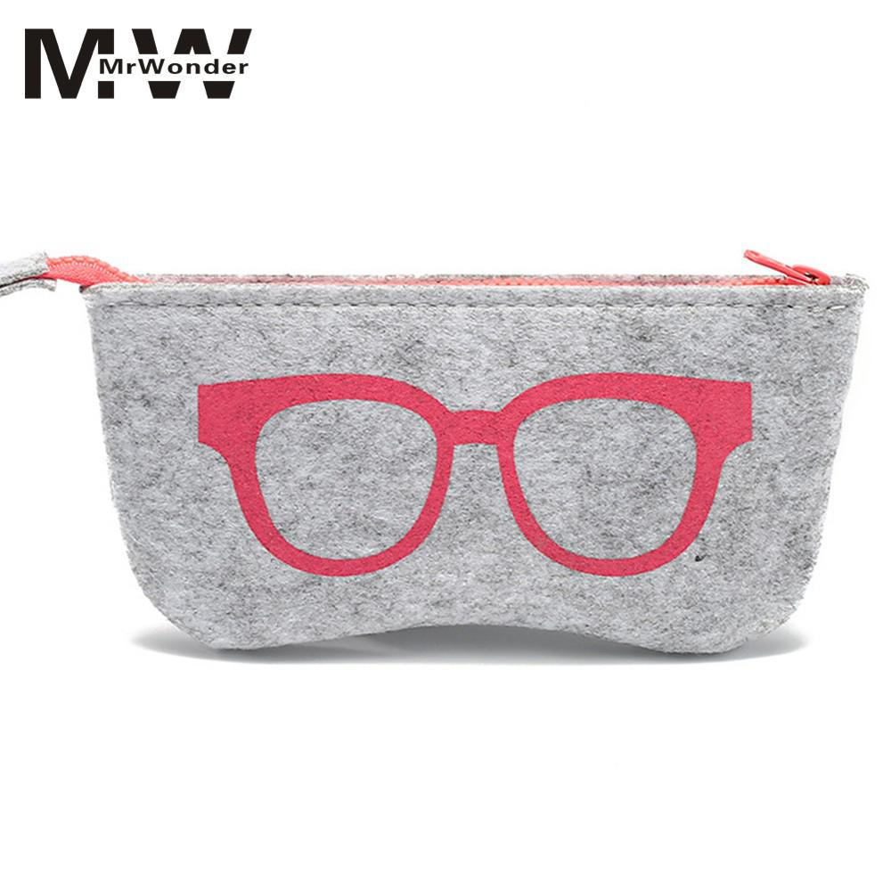 Men's Glasses Fine Missky Natural Felt Glasses Bag High-grade Multi-function Sunglasses Bag Fashion Metal Zipper Bag5 Colors Sunglasses Bag San0 Strong Resistance To Heat And Hard Wearing Apparel Accessories