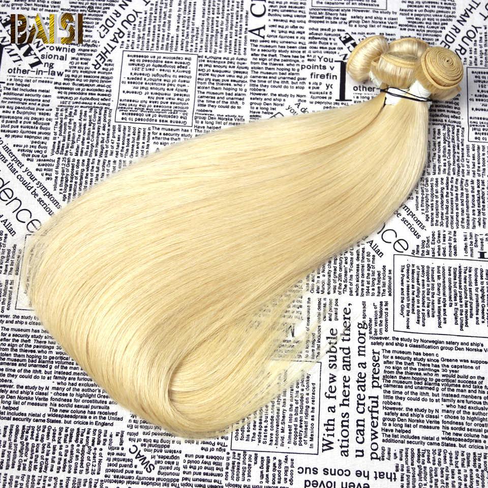 BAISI Haar Brasilianische Gerade Reine Haarwebart 613 Blonde Farbige Langes Haar Extensions 28-34 Zoll 100% Menschliches Haar