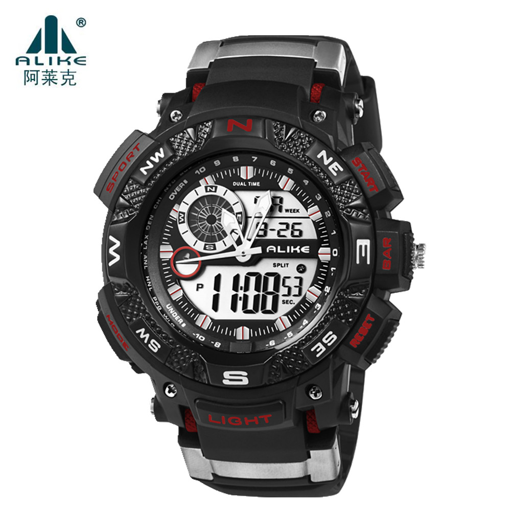 ALIKE Relogio Masculino Waterproof Outdoor Sports G Style Shock Watches Men Quartz Hours Digital Watch Military