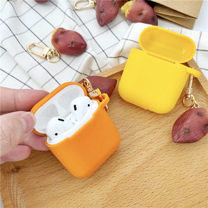 Image 5 - New Cute Sweet Potato Decorative Silicone Case for Apple Airpods Case Accessories Protective Cover Bluetooth Earphone Key Ring