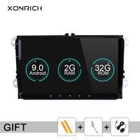 Xonrich Car Multimedia Player 2din Car Radio GPS Android 9.0 For Volkswagen Passat b6 VW PoloT5 Skoda Octavia 2 golf 5 seat leon