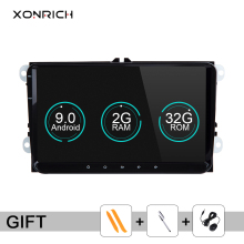 Xonrich Car Multimedia Player 2din Car Radio GPS Android 9 0 For Volkswagen Passat b6 VW